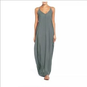 Elan Swim Maxi Dress Cover Up Army Green FLAW Med